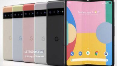 رندر گوگل Pixel Fold را با طراحی مشابه Pixel 6 ببینید!