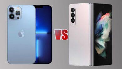 مقایسه سامسونگ Galaxy Z Fold 3 با آیفون ١٣ پرو مکس: دو نبرد، یک جنگ!